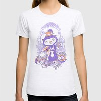 Tea Monkey Tea Party Womens Fitted Tee Ash Grey SMALL