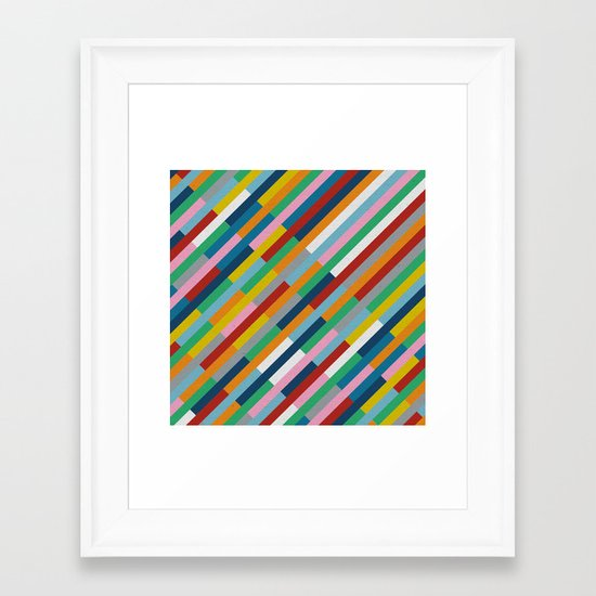 Bricks Rotate 45 Framed Art Print