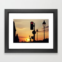 Stop And Look At The Sun… Framed Art Print