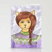 Plait Cat Stationery Cards