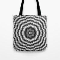 Silver Rosette Tote Bag