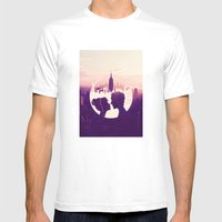 New York Love Mens Fitted Tee White SMALL