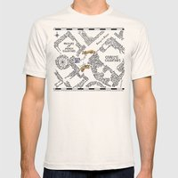 Evening Visit Mens Fitted Tee Natural SMALL