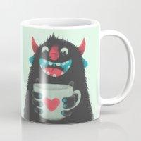 Demon with a cup of coffee Mug