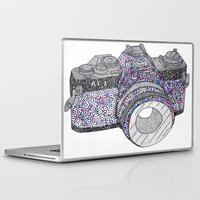 camera Laptop & iPad Skins featuring camera by smurfmonster
