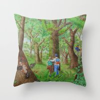 A Day Of Forest (3). (Ob… Throw Pillow