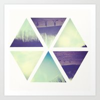 A Park In Pieces. Art Print