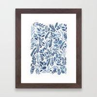indigo scatter Framed Art Print