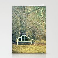 Winter Bench Stationery Cards