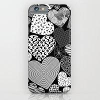 Love Hearts Doodle Art P… iPhone 6 Slim Case