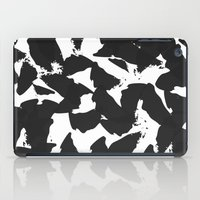Black Bird Wings On Whit… iPad Case