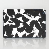 Black Bird Wings On Whit… iPad Case