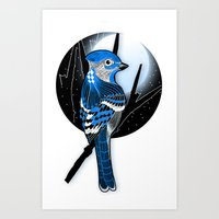 Blue Bird Art Print