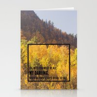 Darling, Autumn Leaves A… Stationery Cards