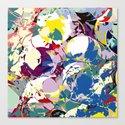 circle color fractures Canvas Print