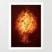 Art Print featuring Lion/off Power by Falcon White