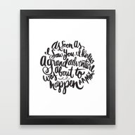 Grand Adventure Framed Art Print