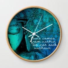 Aqua Buddha Wall Clock