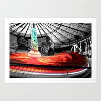 Red River Hexed Art Print