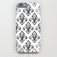 iPhone Cases featuring Royal - fleur de lys by pakowacz
