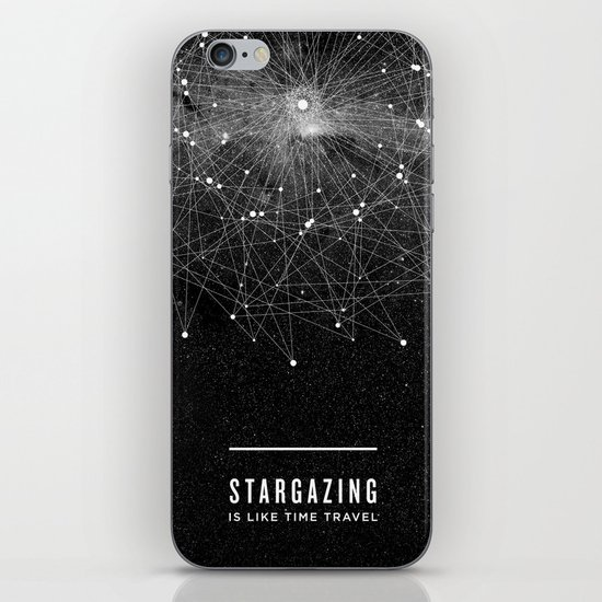 STARGAZING IS LIKE TIME TRAVEL iPhone & iPod Skin