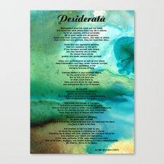 Desiderata 2 - Words Of … Canvas Print