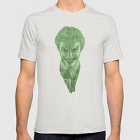 The Joker (Color Variant) Mens Fitted Tee Silver SMALL