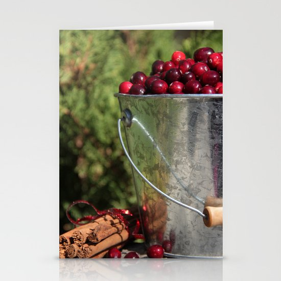 Berries and Spice Stationery Card