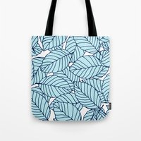 Sweet leafs: Aqua Navy Tote Bag