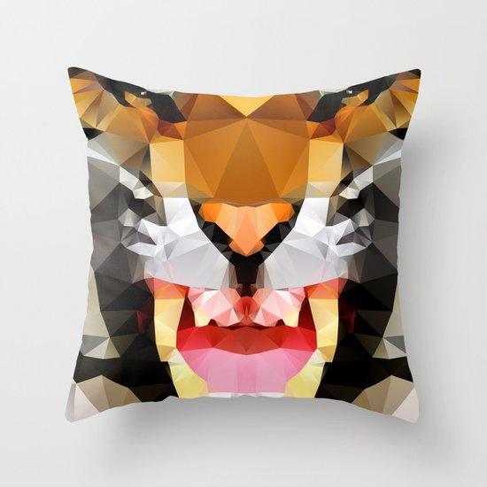 Tiger - Geo Throw Pillow