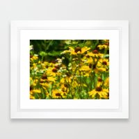 Wildflowers Painting Framed Art Print