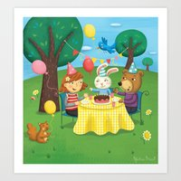 Birthday Party With Friends Art Print
