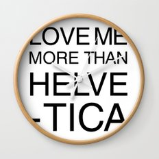 More than Helvetica Wall Clock