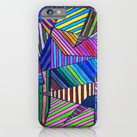 iPhone & iPod Case featuring Colorful Lines by Nur Simsek