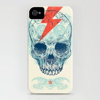 iPhone 4s & iPhone 4 Cases featuring Skull Bolt by Rachel Caldwell