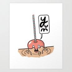 Friends Go Better Together 2/7 - Apple and Caramel Art Print