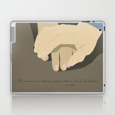 That moment when he tentatively reaches to hold her hand for the first time... Laptop & iPad Skin