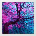 purple tree XII Canvas Print
