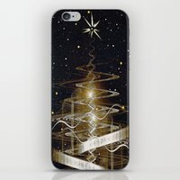 Christmas  Fractal Tree iPhone & iPod Skin