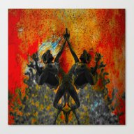 Canvas Print featuring United In One Destiny by Lo Coco Agostino