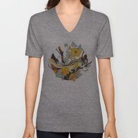 Chipmunk & Morning Glory Unisex V-Neck
