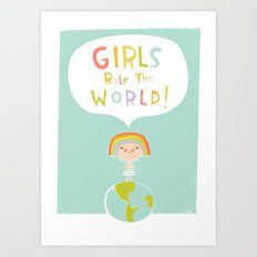 Girls Rule Art Print