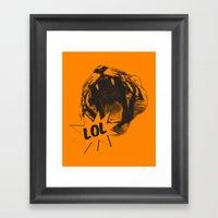 Jozzuv Lol (Orange) (Lig… Framed Art Print