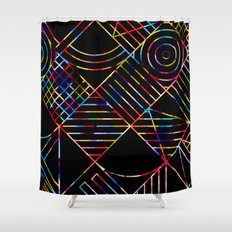 Rainbow Whackadoodle Shower Curtain