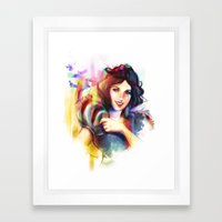 A Smile and a Song Framed Art Print