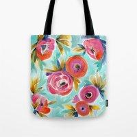Celestial Rain Flower Tote Bag