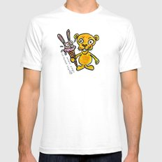 BUNNY CREAM White SMALL Mens Fitted Tee