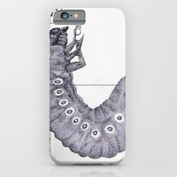 iPhone & iPod Case featuring Bettle Larvae Postcard by Sarah Sutherland
