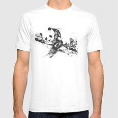 Chaos and order 2 SMALL White Mens Fitted Tee