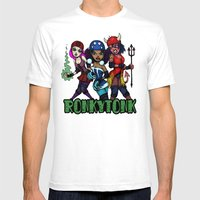 RonkyTonk Halloween Roll… Mens Fitted Tee White SMALL